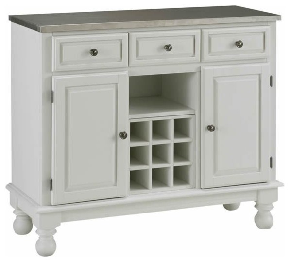 Home Styles Premier Steel Top Buffet Server in White - Transitional - Buffets And Sideboards ...