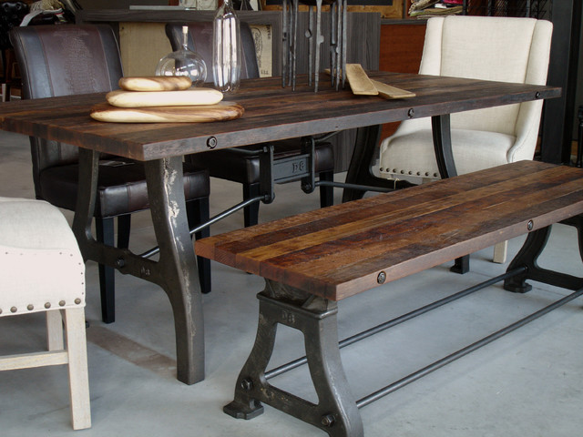 Industrial reclaimed wood dining table Industrial  : industrial dining tables from www.houzz.com size 640 x 480 jpeg 93kB