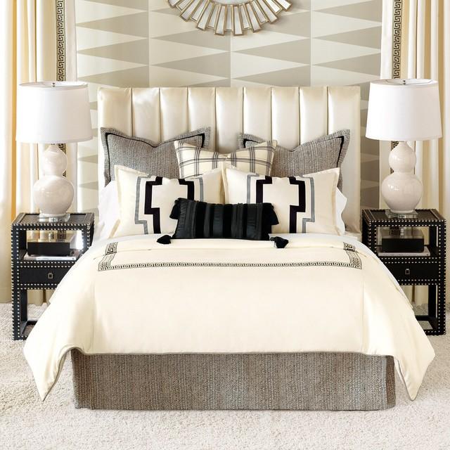 Dark Comforter Sets Modern Classic Bedroom Design 3 Pieces Dark Color Soft King Comforter Set: Abernathy Bed Set