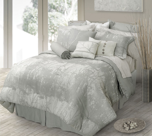 Houzz Modern Bedroom Furniture: Landscape Contemporary Bedding Set By Lawrence Home