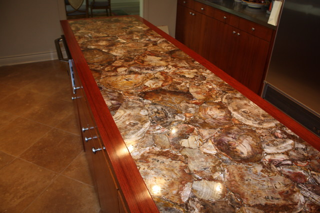 Gemstone Contemporary Kitchen Countertops Dallas