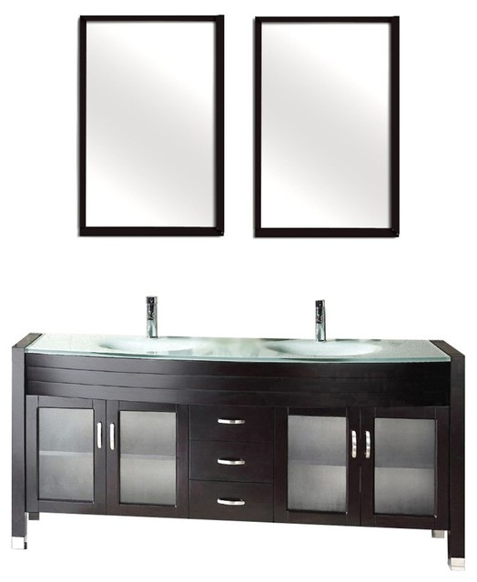 Luxury  48quot Modern Bathroom Vanity W Quartz Countertop And Matching Mirror