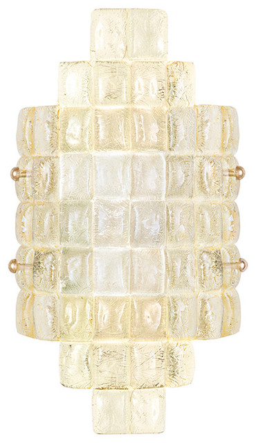 Contemporary Art Glass Wall Sconces : Fine Art Lamps 840650-2 Constructivism Sunrise Gold Glass Wall Sconce - Contemporary - Wall ...