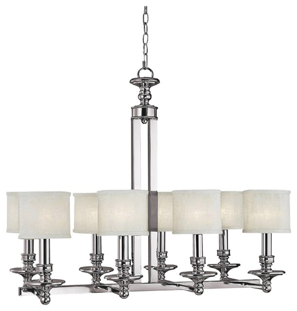 "Contemporary Midtown Collection  8-Light 33 1/4"" Wide Chandelier contemporary-chandeliers"