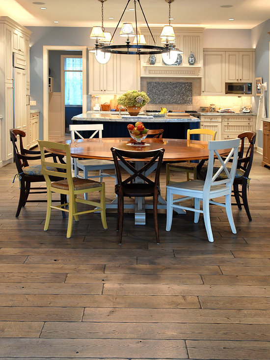 "Private Residences - Tuscany™ Collection 6-3/4"" (17 cm) wide, Vintage French Oak hardwood floor, smooth face, hand beveled, hand distressed, dyed and stained in custom Stone Gray color, tiple Oiled & Waxed."