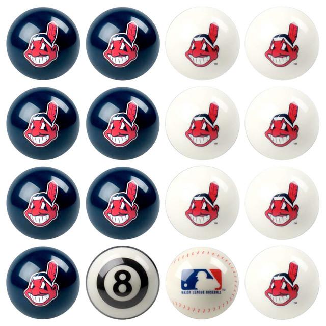 Modern bathroom vanity lighting - Cleveland Indians Mlb Billiard Ball Set Modern Home