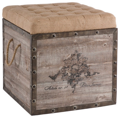 Aidan Gray Decor Storage Cube eclectic ottomans and cubes
