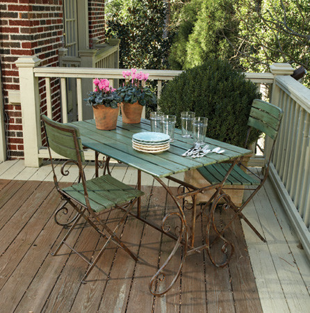 Left Bank Cafe Table Rustic Patio Furniture And