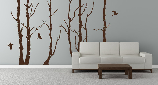 Forest Trees Mural contemporary-wall-decals