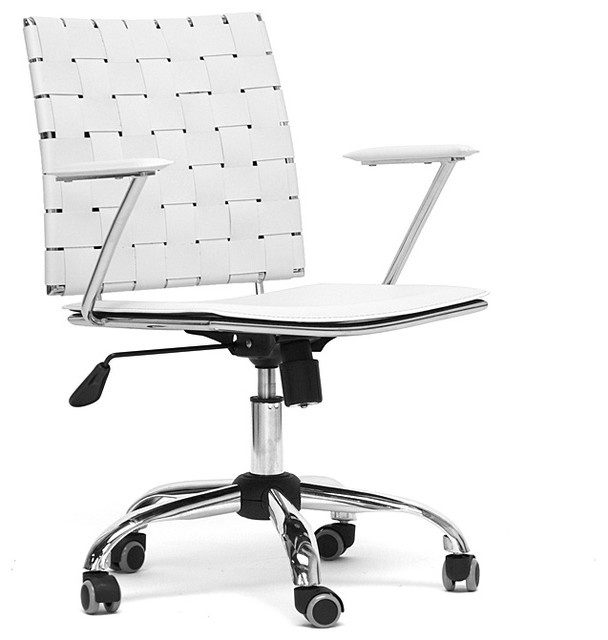 Vittoria White Leather Modern Office Chair contemporary-task-chairs