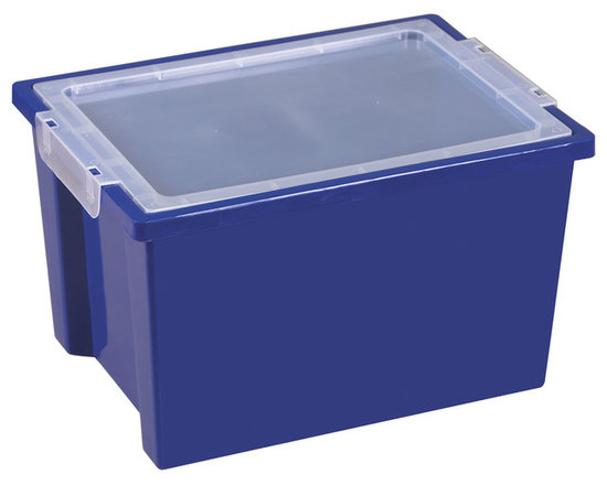 Ecr4kids - Ecr4Kids Kids Arts Crafts Large Storage Plastic Bins With Lid Blue - 20 Pack - Extra-deep, large storage bin that measures 8.25 high, includes lid.Extra-deep, large storage bin that measures 8.25 higH Includes clear, detachable lid. For use with trolley and classroom storage units.NoteColors may vary and are subject to change without notice. Accessories not included unless noted. Adult Supervision Recommended.