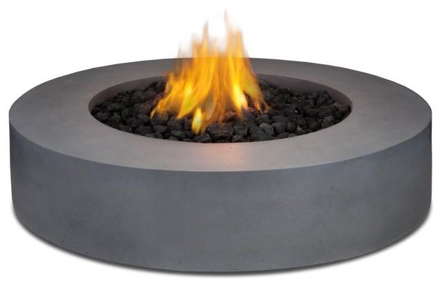 Real Flame Mezzo Round Propane Fire Pit Flint Gray