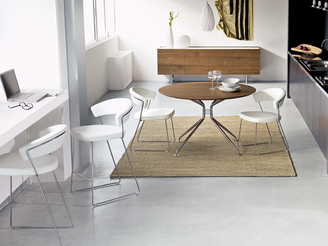 Modern family room with Calligaris New York chairs and stools modern-family-room