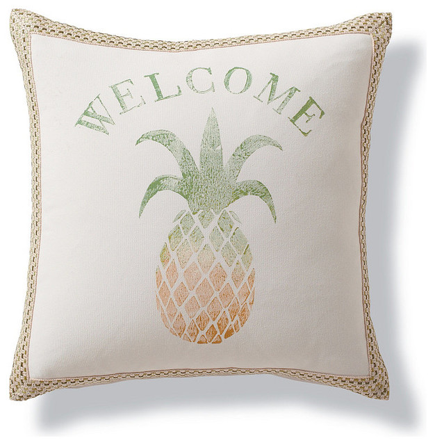 Pineapple Outdoor Pillow - Traditional - Outdoor Cushions And Pillows - by FRONTGATE