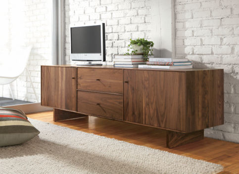 Hudson Wood Base Media Cabinet - Media Storage - Living Spaces - Room & Board - Contemporary ...