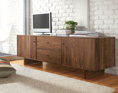 Hudson Wood Base Media Cabinet - Media Storage - Living Spaces - Room & Board contemporary media storage