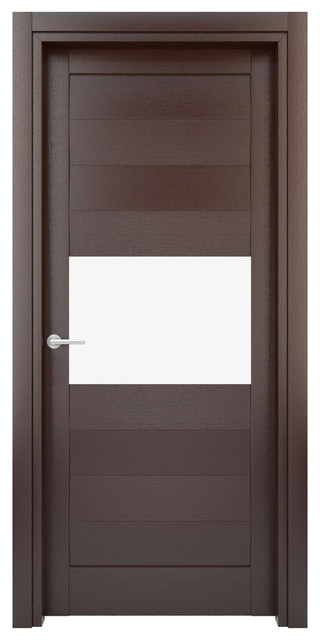 Interior Door Solid Wood Construction Laminated Wenge
