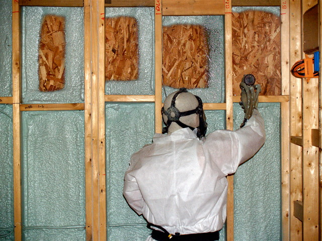 Spray foam insulation traditional boston by showroom - Polystyrene insulation step by step ...