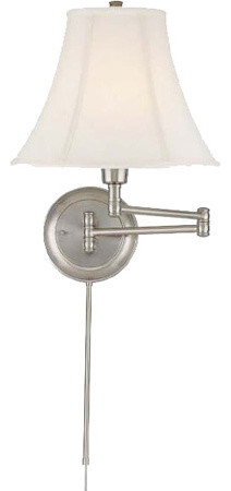 Swing Arm Wall Lamp - Ps/Empire Fabric Shade traditional-swing-arm-wall-lamps