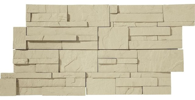 Daltile Exterior Stack Eastern Sand Natural Stone Wall