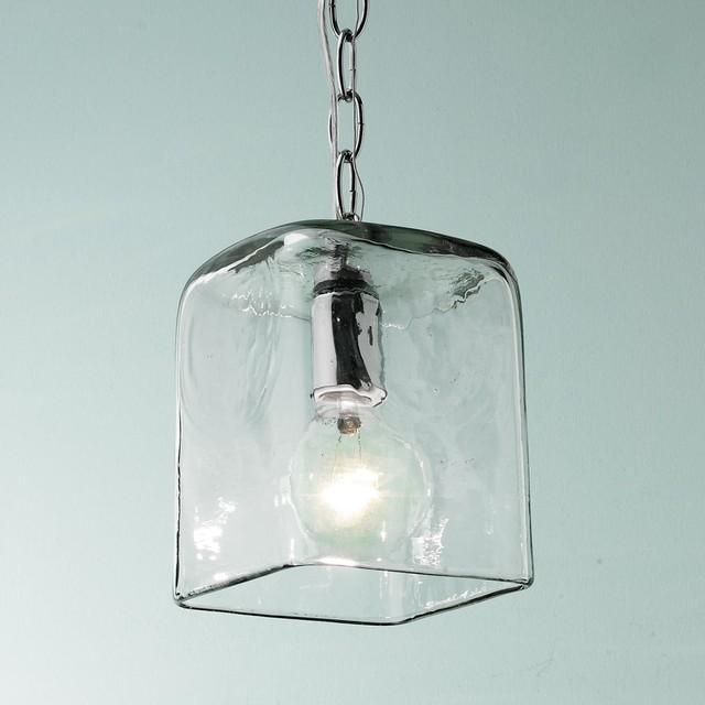 small square glass pendant light pendant lighting by