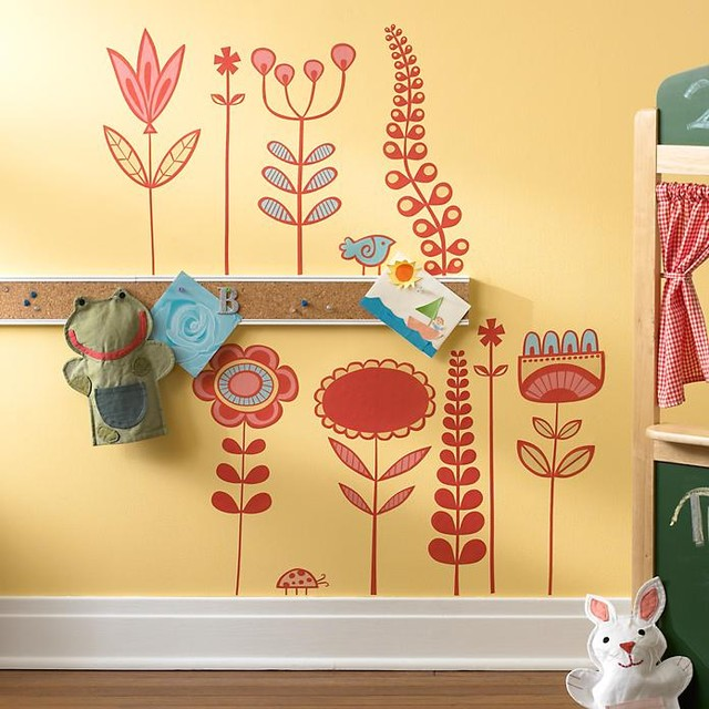 Groovy Blooms Wall Decals contemporary decals