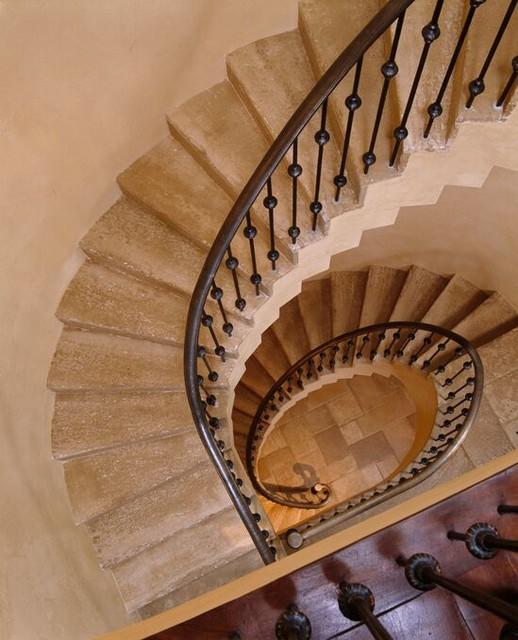 A Hillside Villa mediterranean-staircase