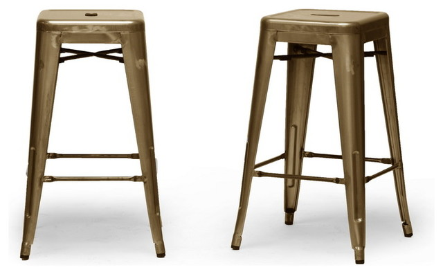 Baxton Studio French Industrial Modern Counter Stool in Bronze (Set of 2) contemporary-bar-stools-and-counter-stools