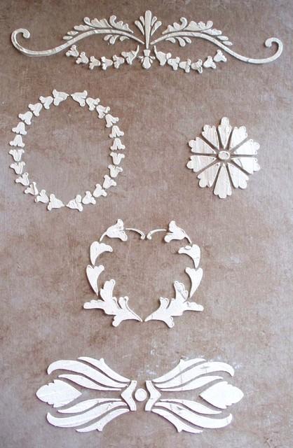 Raised Plaster Tremont Elements Furniture Stencil Set traditional-wall-stencils