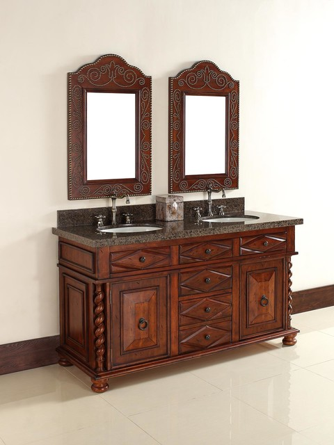 "60"" Continental Double Sink Vanity traditional"