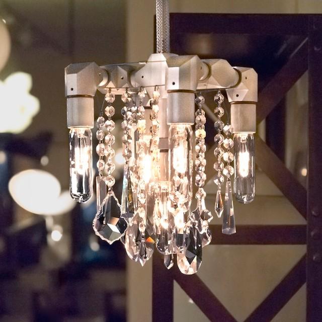 McHale 2013 Bead Blasted Bryce Chandelier modern-chandeliers