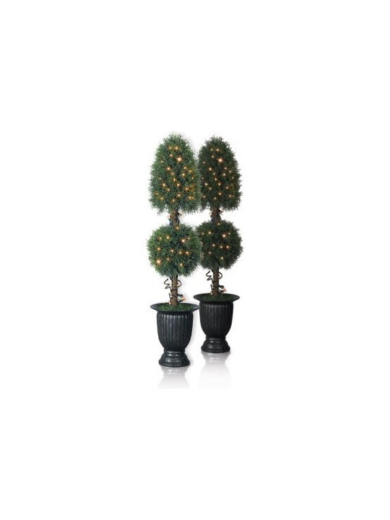 Balsam Hill Arborvitae Royal Artificial Christmas Tree - CELEBRATING LIFE WITH BALSAM HILL'S ARBORVITAE ROYAL POTTED TOPIARY TREE |