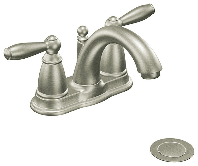 Moen 6610bn Brantford Two Handle Low Arc Bathroom Faucet Brushed Nickel Contemporary