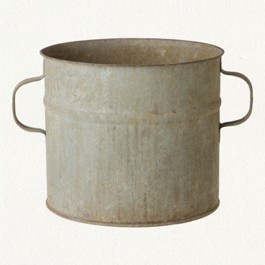 Zinc Flower Bucket traditional-indoor-pots-and-planters
