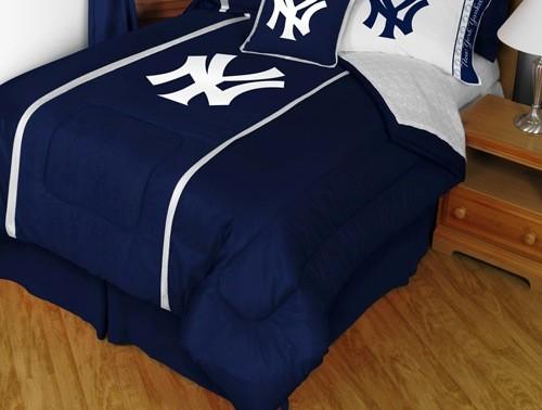 MLB New York Yankees Sidelines Comforter And Sheet Set Combo Full Contemp