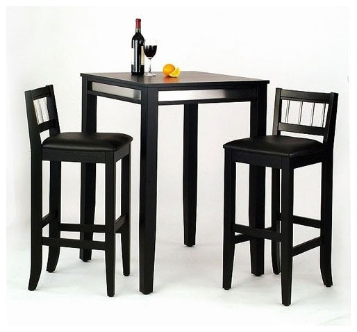 Manhattan Pub Table Set Modern Bar Stools And Counter