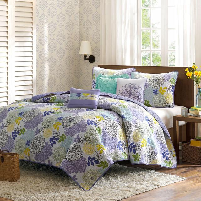 Madison Park Jessica 6-piece Cotton Coverlet Set contemporary-quilts-and-quilt-sets