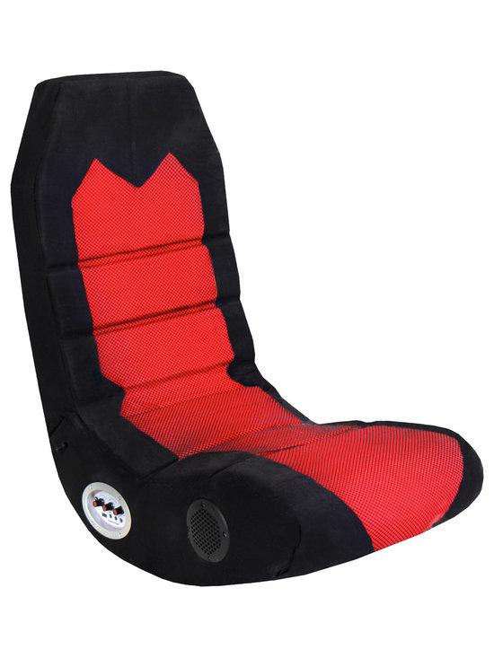 "Lumisource - BoomChair Edge, Red/Black - 31.5""L x 15""W x 32.25""H"
