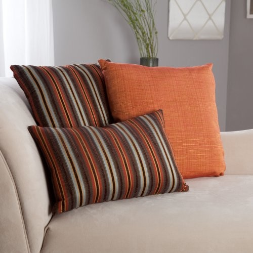 Weber Chestnut Stripe and Mystic Spice Pillow Set traditional-decorative-pillows