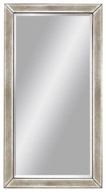 Bassett Mirror Murano Beaded Antique Leaner Mirror in Silver Leaf ...