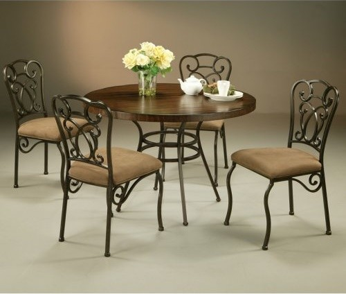 Pastel Wilton 5 pc. Wood Top Dining Table Set contemporary dining tables