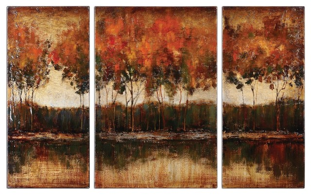 Artwork Reproduction Trilakes I Ii Iii Set of 3 Wall Art traditional-prints-and-posters