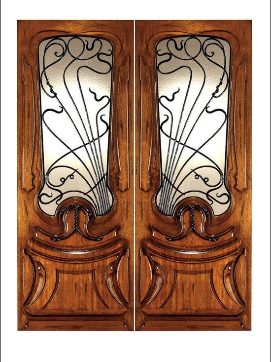 Art Nouveau Entry Doors Model # AN-2014 -