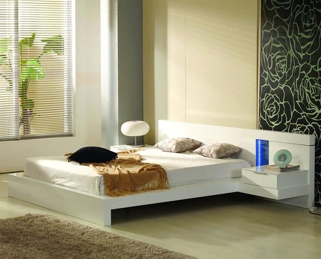 Alaska Platform Bed With Built In Nightstands