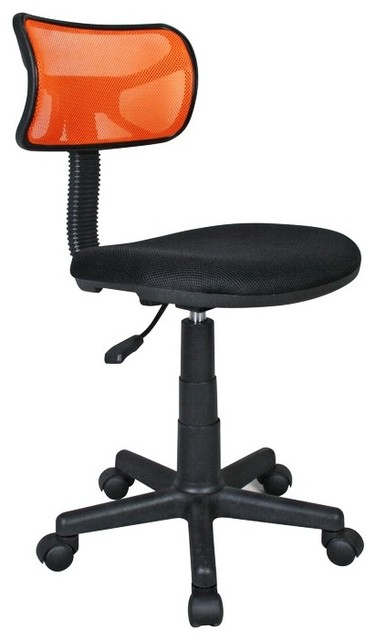 Techni Mobili Mesh Task Chair in Orange modern-office-chairs