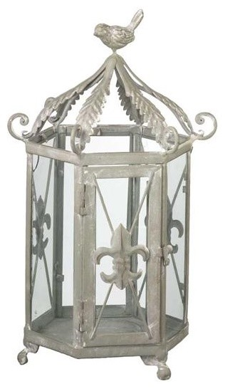 Fleur-de-Lis Lantern eclectic candles and candle holders