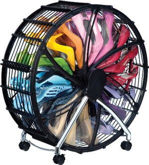 Shoe Wheel eclectic clothes and shoes organizers