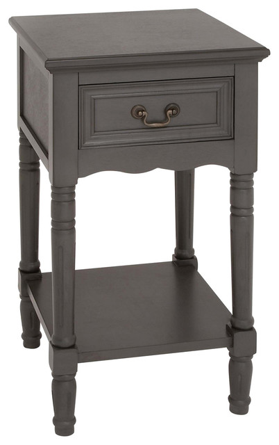 Urban Designs Solid Wood Night Stand Table Grey