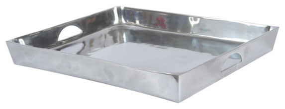 Polished Aluminum Serving Trays traditional-serving-trays