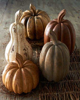 Five Gourds and Pumpkins traditional holiday decorations